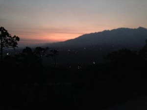 an enchanting sunset seen from the terrace of the house..